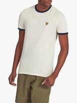 Lyle & Scott Ringer Crew Neck T-Shirt, White/Navy