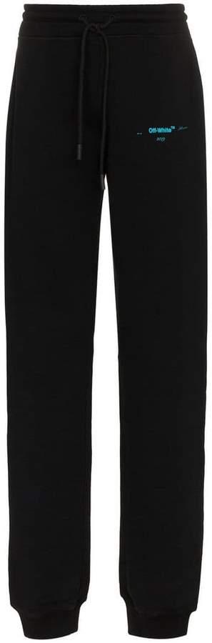 Off-White logo detail cotton sweat pants