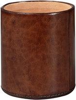 OKA Saddle Leather Pen Pot/Candle Holder