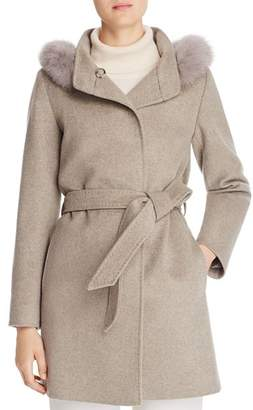 Cinzia Rocca Icons Fur-Trim Wool & Cashmere Coat