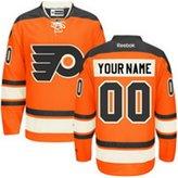 SuJe Men's Philadelphia Flyers Custom Premier Jersey Alternate Orange Size M-3XL