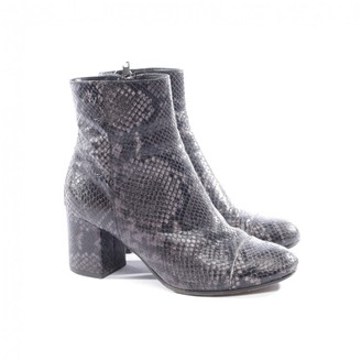 Zadig & Voltaire Grey Exotic leathers Ankle boots