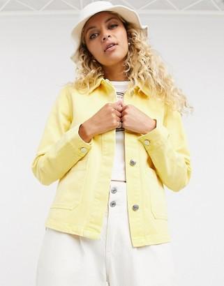 Vero Moda cord utility jacket in yellow