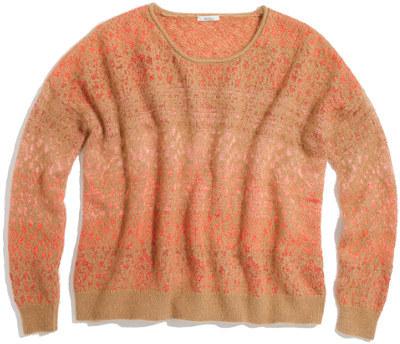 Madewell Angora Snakeprint Sweater