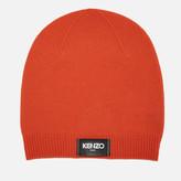 Kenzo Women's Iconic Label Beanie Orange