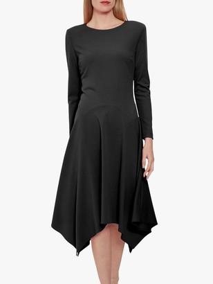 Gina Bacconi Lulana Soft Crepe Hanky Hem Dress