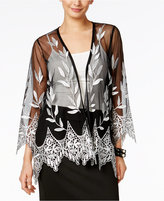 Alfani Petite Embroidered Open-Front Illusion Cardigan, Created for Macy's