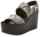 Vince Idalia Embossed Leather Platform Sandal