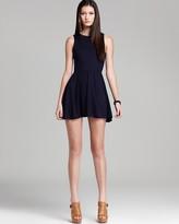 Aqua Jersey Dress - Cross Back