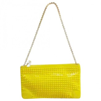 Christian Louboutin Loubiposh Yellow Patent leather Clutch bags