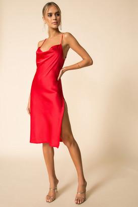 superdown Side Slit Slip Dress