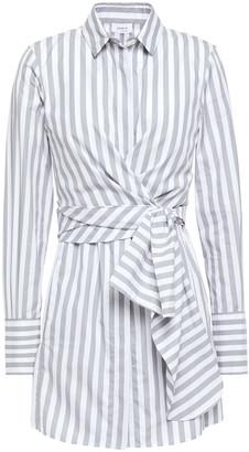Akris Knotted Striped Cotton-poplin Shirt