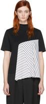Facetasm Ssense Exclusive Black Striped Panel T-shirt