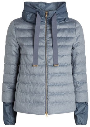 Herno Silk-Cashmere Blend Quilted Jacket
