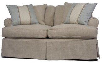 Beachcrest Home Coral Gables T-Cushion Loveseat Slipcover