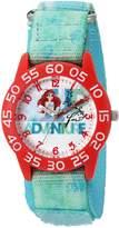 Disney Girl's 'Ariel' Quartz Plastic and Nylon Automatic Watch, Color: (Model: W002903)