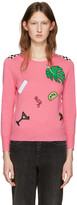 Marc Jacobs Pink Embroidered Wool Pullover