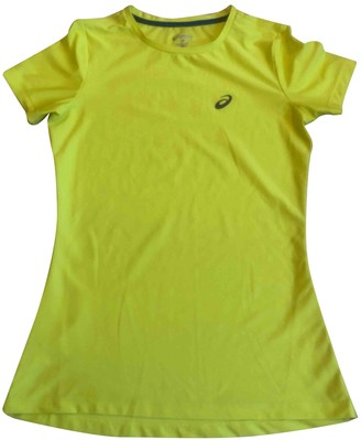Asics Yellow Synthetic Tops
