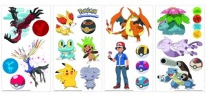 York Wall Coverings York Wallcoverings Pokemon Xy Peel and Stick Wall Decals