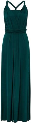Under Armour Tallulah Twist Me Tie Me Jersey Bridesmaid Dress Green