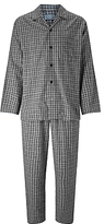 John Lewis Ealing Check Pyjamas, Grey
