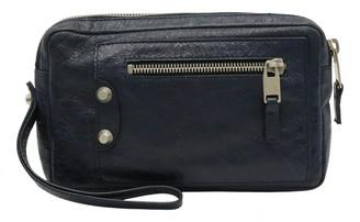 Balenciaga Navy Leather Clutch bags