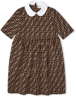 Fendi Kids FF logo motif dress