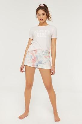 Ardene Plush Tie-dye PJ Shorts