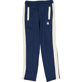 Palm Angels \N Blue Polyester Trousers