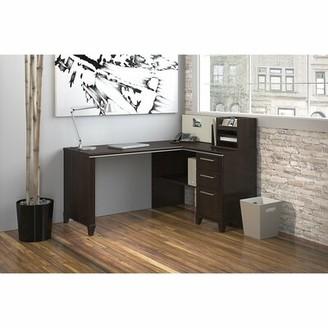 Bush Business Furniture Enterprise L-Shape Executive Desk Color: Mocha Cherry