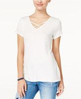 Hippie Rose Juniors' Crisscross T-Shirt