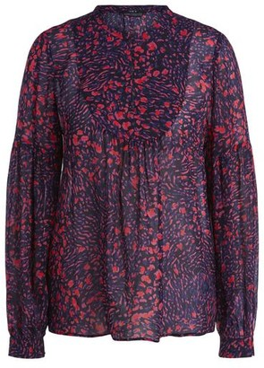 Set Fashion - Floral Animal Print Blouse - DK34-UK8