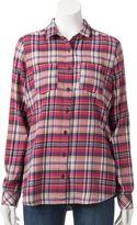 Women's SONOMA Goods for LifeTM Plaid Flannel Shirt