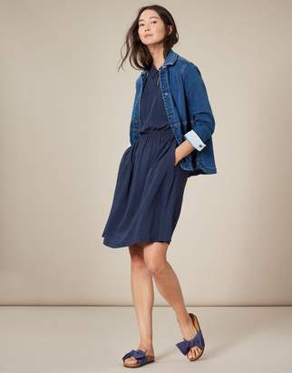 Joules Etty Embroidered Casual Elasticated Waist Dress