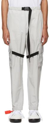 Off-White Off White Grey Nylon Cargo Pants