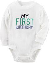 Carter's Baby Boys' Long-Sleeve My First Birthday Bodysuit