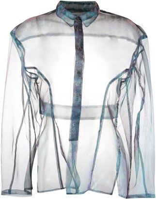 Ambush Iridescent Sheer Organza Shirt