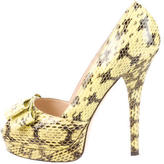 Fendi Watersnake Platform Pumps
