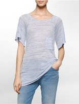 Calvin Klein Space-Dyed Sheer Tee