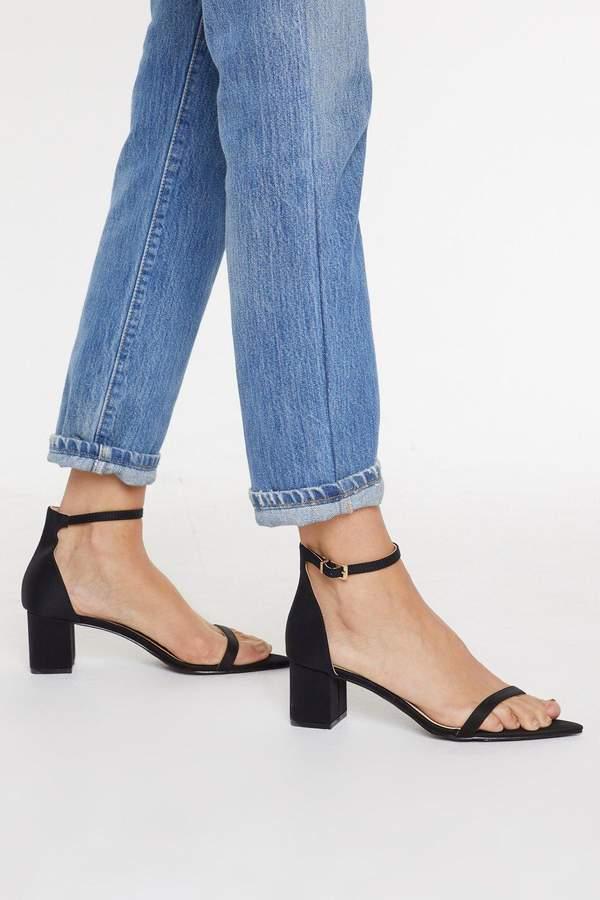It's Just How We Heel Low Block Satin Sandals