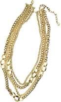 RJ Graziano Multi Chain Necklace Gold
