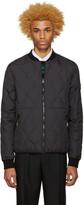 Kenzo Black Reversible Quilted Bomber Jacket