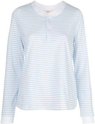 Morgan Lane Kaia striped-print PJ set