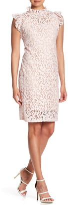 Alexia Admor Lace Cap Sleeve Sheath Dress