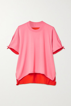 Bottega Veneta Two-tone Jersey T-shirt - Pink