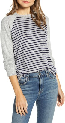 Loveappella Raglan Sleeve Knit Top