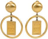 One Kings Lane Vintage Gold Givenchy Hoop Earrings