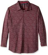 Perry Ellis Men's Big and Tall Midnight Floral Shirt