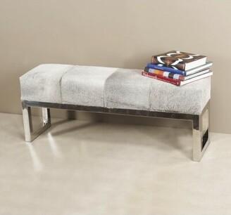 Interlude Genuine Leather Bench