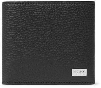 HUGO BOSS Crosstown Full-grain Leather Billfold Wallet - Black